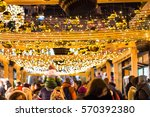 crowd of people with children... | Shutterstock . vector #570392380