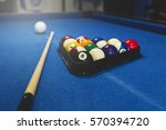 playing billiard. billiards... | Shutterstock . vector #570394720