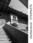 courtyard of university... | Shutterstock . vector #570396370