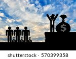 unequal competition. wealthy... | Shutterstock . vector #570399358