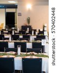 wedding reception tables with...   Shutterstock . vector #570402448
