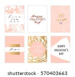 vector modern love cards ... | Shutterstock .eps vector #570403663