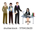 consultant or manager works... | Shutterstock .eps vector #570413620