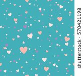 seamless pattern hearts on a... | Shutterstock .eps vector #570421198