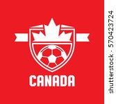 a canadian athletic crest in... | Shutterstock .eps vector #570423724