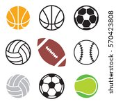 a set of basic sports balls... | Shutterstock .eps vector #570423808