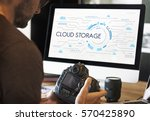 community cloud storage sync... | Shutterstock . vector #570425890