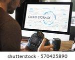 community cloud storage sync... | Shutterstock . vector #570425890