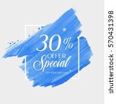 sale special offer 30  off sign ... | Shutterstock .eps vector #570431398