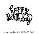 happy birthday. greeting card.... | Shutterstock .eps vector #570431860