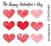 happy valentine's day lettering ... | Shutterstock . vector #570432469