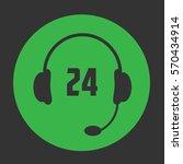 24 call center icon. vector...   Shutterstock .eps vector #570434914
