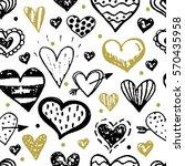 vector grunge hand drawn... | Shutterstock .eps vector #570435958