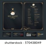 creative menu design. layout... | Shutterstock .eps vector #570438049