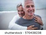 portrait of happy senior couple ... | Shutterstock . vector #570438238