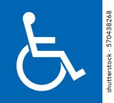 a simple wheelchair icon in... | Shutterstock .eps vector #570438268