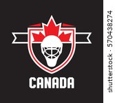 a canadian athletic crest in... | Shutterstock .eps vector #570438274