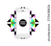 mobile phone icon with trendy... | Shutterstock .eps vector #570438826