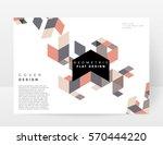 memphis geometric background... | Shutterstock .eps vector #570444220