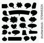 a set of comic speech bubbles.... | Shutterstock .eps vector #570445324