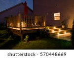 wooden deck and patio of family ... | Shutterstock . vector #570448669