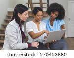 female business colleagues... | Shutterstock . vector #570453880