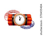 bomb with clock timer  vector   Shutterstock .eps vector #570455404