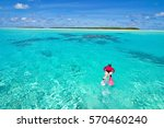 cook islands in the south... | Shutterstock . vector #570460240