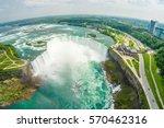 niagara falls aerial skyline... | Shutterstock . vector #570462316