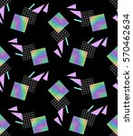 colorful hologram rectangle.... | Shutterstock .eps vector #570462634