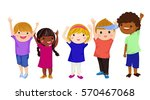 group of children | Shutterstock .eps vector #570467068