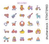 vector illustration of baby... | Shutterstock .eps vector #570473983