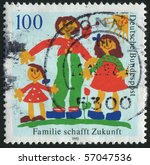 germany   circa 1992  stamp... | Shutterstock . vector #57047536