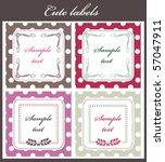 cute label set | Shutterstock .eps vector #57047911