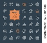bakery icon set   outline icon... | Shutterstock .eps vector #570484438