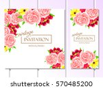 romantic invitation. wedding ... | Shutterstock . vector #570485200
