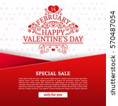 template design happy valentine'... | Shutterstock .eps vector #570487054