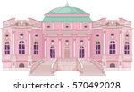 cute romantic palace for a... | Shutterstock .eps vector #570492028