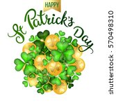 clovers  coins and original... | Shutterstock .eps vector #570498310