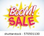 vector stock of comic explosion ... | Shutterstock .eps vector #570501130