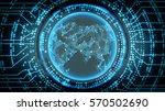 future technology cyber concept ...   Shutterstock .eps vector #570502690