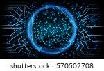 future technology cyber concept ...   Shutterstock .eps vector #570502708