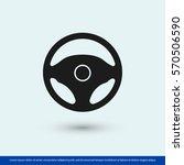 steering wheel icon. one of set ... | Shutterstock .eps vector #570506590