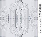 vector gray circuit board... | Shutterstock .eps vector #570508984