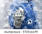 oil industry 4.0 iot... | Shutterstock . vector #570516199