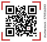 vector illustration of qr code... | Shutterstock .eps vector #570516343