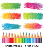 color pencils drawings | Shutterstock .eps vector #57051922