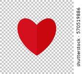 red heart on background isolate ... | Shutterstock .eps vector #570519886