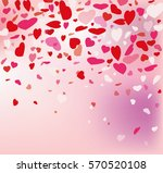 vector background with hearts ... | Shutterstock .eps vector #570520108