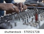 sound mixer board at a live... | Shutterstock . vector #570521728